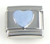 Italian Charm - Light Blue Enamel Heart