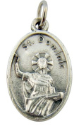 Made in Italy Catholic Patron Saint St Dominic Pray for Us Medal Pendant Charm