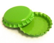 50 Lime Green ON BOTH SIDES Bottle Caps New Unused Bottlecaps Coloured 2 sided