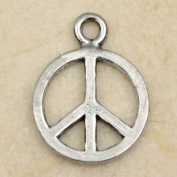 Peace Sign Symbol Pewter Charm Pendant