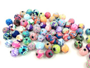 Adored 100pcs 8mm Fimo Polymer Clay Round Beads Variety Size