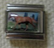 9mm Italian Charm... Tan Horse