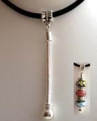 "Dangle Chain Pendant w/Link 2""/50mm Fit Chamilia/Pandora/Troll Beads"