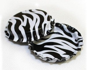 50 Zebra Print ON BOTH SIDES Bottle Caps New Unused Bottlecaps Cap 2 Sided Colour