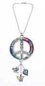 Peace Sign Colour Art Car Charm