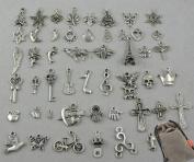 Wholesale 50pcs Bulk Lots Tibetan Silver Plated Mixed Pendants Charms Jewellery