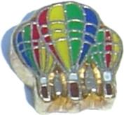 Hot Air Balloons Floating Locket Charm