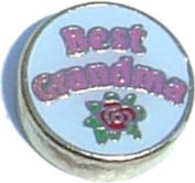Best Grandma Floating Locket Charm