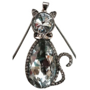 LIGHTAHEAD® BEAUTIFUL STUDDED GLASS CAT PENDANT & CHAIN JEWELLERY GREAT GIFT