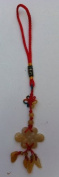 Feng Shui Yellow Jade Mystic Knot Amulet Charm