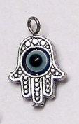 LOT of Lucky Evil Eye Hamsa Hand Charm Amulet Pendants With Revolving Eye