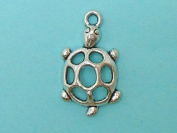 8 Turtle Charms tibetan silver turtles