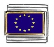 European Union Photo Flag Italian Charm Bracelet Jewellery Link