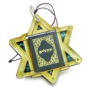 Holy Land Genuine Gemstones Amulet King of Solomon Star Psalms Tehillim Pass Book Natural Wooden Lucky Car Charm