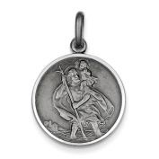 Sterling Silver St. Christopher Medal Charm - JewelryWeb
