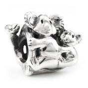 Ohm Koala Family European Bead