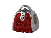 SilveRado (tm) BM020-6 Bling-Handbag Bling Red
