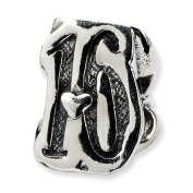 Sterling Silver Reflections Sweet 16 Bead Charm - JewelryWeb