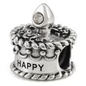 Ohm April Birthstone Crystal Birthday Cake European Bead