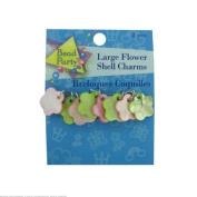 24 Large flower shell charms