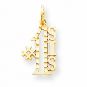 Genuine 10K Yellow Gold #1 Sis Charm 0.8 Grammes Of Gold