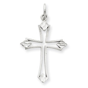14k White Gold Passion Cross Charm