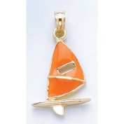 Gold Charm Orange Windsail Surfing Board