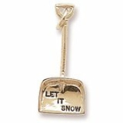 Rembrandt Charms, Snow Shovel Charm, 10K Yellow Gold