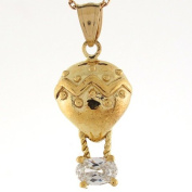 10k Real Yellow Gold 2.7cm Hot Air Balloon Dreamers Charm Pendant
