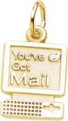 Rembrandt Charms E-Mail Charm, 10K Yellow Gold