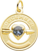Rembrandt Charms December Birthday Charm, 10K Yellow Gold