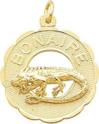 Rembrandt Charms Bonaire Charm, 10K Yellow Gold