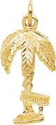 Rembrandt Charms Hawaii Charm, 10K Yellow Gold