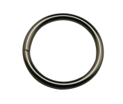 Generic Metal Silvery 3.2cm Inside Diameter Monocyclic Ring Single Ring Handbag Or Luggage Accessories