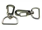 Generic Metal Silvery 1.6cm Inside Width Lobster Clasps Buckle Hook Key Ring Chain For Handbag Or Luggage