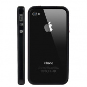 Silicone and Plastic Assembly Bumper for Verizon CDMA iPhone 4 - Black