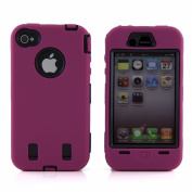 Body Armour for iPhone 4 / 4th Generation - Hot Pink & Black