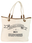 Santa Barbara Design Studio JKC Rope Handled Canvas Tote Bag, Some People Do Drugs-I Buy Shoes