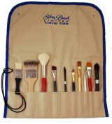 Silver Brush 9575 Travel Totes Roll Up Storage Bag for Short Handle Brushes