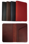 New 100% Genuine Leather Top Stub Chequebook Cover Wallet for Top Stub Cheques - Black
