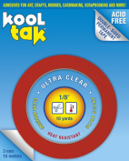 KOOL TAK Ultra Clear Sticky Tape, 0.3cm by 16-Yard