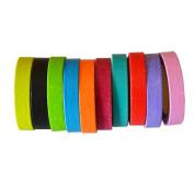 Lychee Craft 10 Rolls Rainbow Candy Colour Washi Tape DIY Sticker