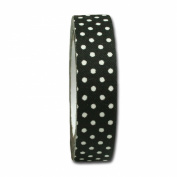 Maya Road FT2507 Candy Dots Fabric Tape for Crafting, Licorice Black