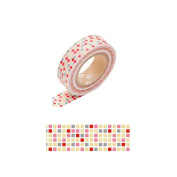 Japanese Washi Masking Tape -Tile Red