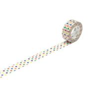 Japanese Washi Masking Tape - MT Kids Mini Roll Dots Rainbow