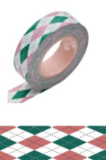 Japanese Washi Masking Tape - Argyle Pink