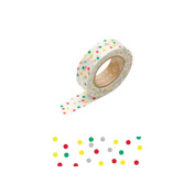 Japanese Washi Masking Tape - Mixed Drop Red