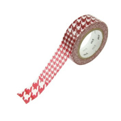 Japanese Washi Masking Tape -Houndstooth Red