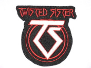 "TWISTED SISTER TS Logo Embriodered Iron On Patch 3.5""/8.8cm x3.4""/8.7cm By MNC Shop"