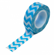 Dress My Cupcake Washi Decorative Tape for Gifts/Favours, Blue Chevron